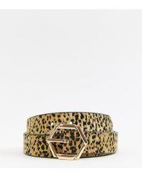 Accessorize - Hexagon Jeans Belt In Leopard - Lyst