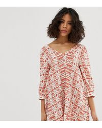 Native Youth - Volume Smock Dress In Tile Print - Lyst