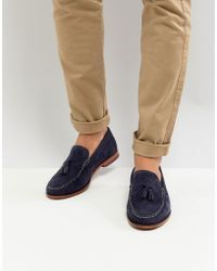 Ted Baker - Dougge Suede Loafers In Navy - Lyst