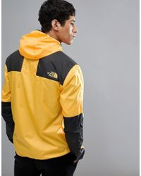 The North Face - 1985 Mountain Jacket Hooded 2 Tone In Yellow/black - Lyst