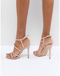 661d4d1ca35 Lyst - Lipsy Billie Silver Thread Platform Heeled Sandals in Metallic