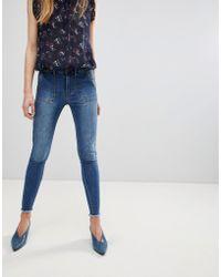 First & I - Frayed Hem Skinny Jeans - Lyst