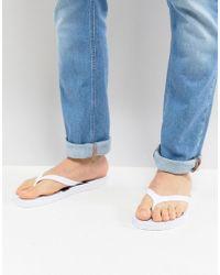 Calvin Klein - Dash Logo Thongs In White - Lyst