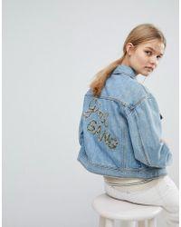 MAX&Co. - Max&co Girl Gang Denim Jacket - Lyst