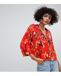 Weekday - Red Print Blouse - Lyst