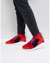 low priced 2a948 92403 adidas Originals - Tubular Doom Winter Sneakers In Red By9397 - Lyst