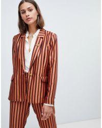 Maison Scotch - Shiny Striped Suit Blazer - Lyst