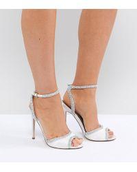 7dba8f2d99fe7 Lyst - ASOS Asos Honey Bloom Bridal Embellished Heeled Sandals in ...