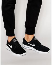 best sneakers 9fdab ad101 Nike - Janoski Max Trainers In Black 685299-002 - Lyst
