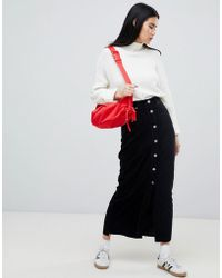 Dr. Denim - Cord Button Through Venla Skirt Exclusive To Asos - Lyst