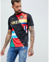 Nike - Fc T-shirt With Flag Print In Black 886872-012 - Lyst