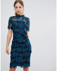 Coast - Three Tone Lace Dress - Lyst