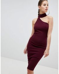 AX Paris - Pencil Dress With Cut Out Detail - Lyst