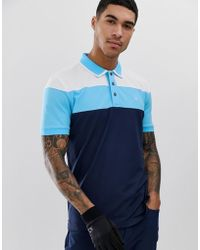 16dfe4dc Calvin Klein Polo With Logo In Blue C9161 in Blue for Men - Lyst