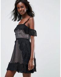 MAJORELLE - Polka Dot Mini Evening Dress - Lyst
