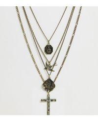 Reclaimed (vintage) - Collar con diseo a capas y acabado pulido en dorado exclusivo en ASOS de Inspired - Lyst