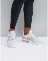 Nike - Air Max Sequent Trainers In Grey And Pink - Lyst