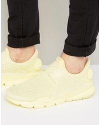 Nike - Sock Dart Breathe Trainers In Yellow 909551-700 - Lyst
