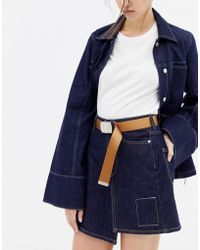 Weekday - Canvas Buckle Belt - Lyst