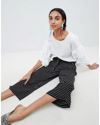 B.Young - Stripe Panelled Trousers - Lyst
