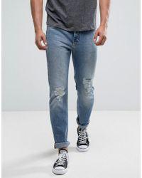 Lee Jeans - Rider Slim Jeans Mega Rips Light Wash - Lyst