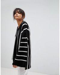 Boohoo - Wide Sleeve Striped Oversized Jumper - Lyst