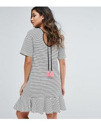 GeBe Maternity - Nursing Striped Shift Dress With Fluted Sleeve And Tassel Detail - Lyst