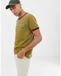 Nudie Jeans - Co Kurt Logo Ringer T-shirt In Khaki - Lyst