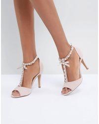 Dune - Mercedes Pearl Trim Heeled Sandals - Lyst