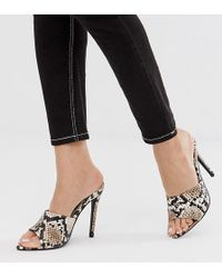 72ab474d0057 Missguided Laser Cut Barely There Heeled Sandals Black in Black - Lyst