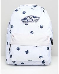 Vans - Lilac Floral Print Realm Backpack - Lyst