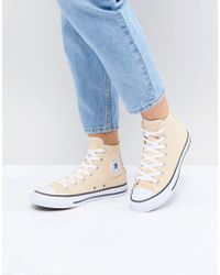 0092d61a0bbe Lyst - Converse Chuck Taylor All Star Hi Top Boot In Beige in Natural