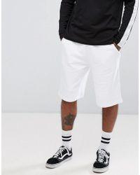 ASOS - Oversized Jersey Short In White - Lyst
