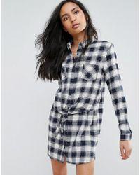 Pepe Jeans - Jona Checked Shirt Dress - Lyst