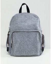 Monki - Felt Backpack - Lyst