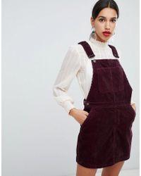Vero Moda - Cord Pinafore Dress - Lyst