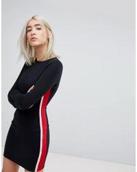 Pull&Bear | Side Stripe Jersey Dress | Lyst