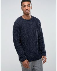 Bellfield - Cable Jumper With Nep - Lyst