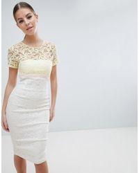 Vesper - 2 In 1 Lace Pencil Dress - Lyst