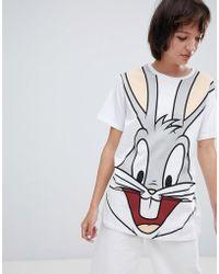 ASOS - Design T-shirt With Bugs Bunny Print - Lyst