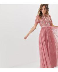 ASOS · Needle   Thread - Vestito lungo in tulle con strati e decorazioni -  Lyst 07c66d606e8