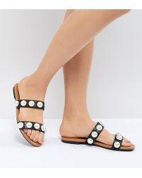 Monki - 2 Strap Slip On Sandal - Lyst
