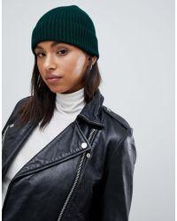 New Look - Green Beanie Hat - Lyst