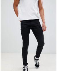 Weekday - Form Super Skinny Jeans Stay Black - Lyst