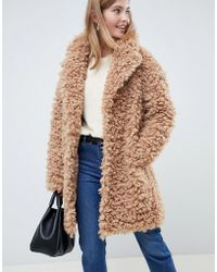 9595b83596e Lyst - YMC Fluffy Double Breasted Cocoon Coat in Gray