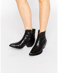 Frye - Shane Tip Short Western Leather Heeled Ankle Boots - Lyst