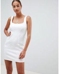 ASOS DESIGN - Scuba 90s Scoop Neck Mini Dress - Lyst