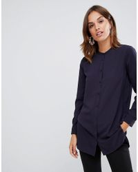 French Connection - Class Collarless Shirt - Lyst