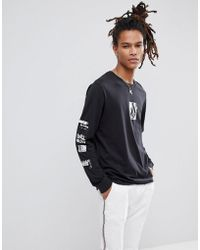 Volcom - Long Sleeve T-shirt With Pixel Chest Print - Lyst
