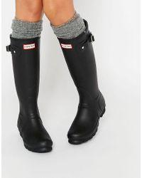 HUNTER - Stivali da pioggia regolabili neri - Lyst